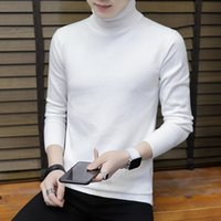Winter Mens Sweater 2019 New Spring Turtleneck Solid Color Clothing For Males Casual Sweater Mens Slim Fit Knitted Pullovers