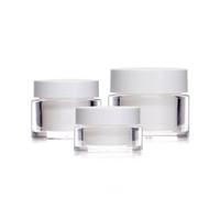 15g / 50g Double couches Vide Cosmetic Pors rechargeable Face en plastique Crème Conteneur Accessoires de soin de la peau