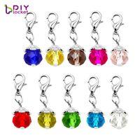 """La mode pendentifs 20PCS """"Crystal"""" pendants de collier pendent fit charme flottant Origet hibou médaillon avec mousqueton LSFE01 * 20"""