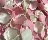 Розовые и слоновая слоновая слоновая слоновая слоновая ложелий для столового декора девушка роза лепесток свадебный душ декор