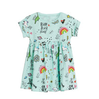 Jumping Meters New Rainbow Baby Dress Clothes Cotton Print C...