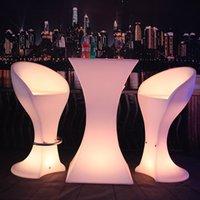 Nuevo colorido del vector del vino recargable muebles de la barra llevó mesa de cóctel fuentes de la barra de discoteca kTV luminosos impermeables