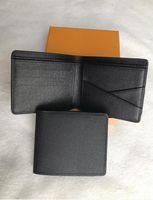 6 Cores Mens Marca Carteira Frete Grátis 2020 Couro dos homens com carteiras para homens bolsa Carteira homens carteira com caixa laranja