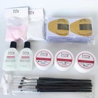 Colle De Cristal Pour Ongles Acryliques Art Manucure Builder Gel Ensemble Avec La Couleur De La Poudre Et Acryl Liquide Kits 2019
