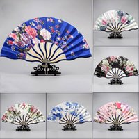 Beautiful Vintage Flowers Hand Fan Cute Retro Landscape Fan ...