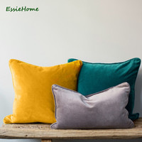 ESSIE Home 15 colori disponibili 2018 Moda Colori High End vellutino Cuscino federa del cuscino Tubazioni Tubazioni Cuscino CJ191225