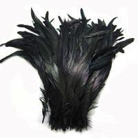 Zwarte Coque Haan Staart Veer Haan Staart Veer Zwart Kleur DIY Veer Huwelijksveren 30-35cm 12-14 Inch Haan