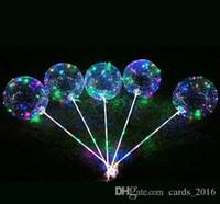 Globos de bobo de látex luminoso con gigante gigante brillante LED globo juguete festival festival festival de festivales de cumpleaños decoraciones de boda fiesta