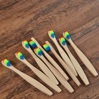 Moq 50pcs Bamboo Toothbrush Soft Eco Biodegradable Plastic- F...