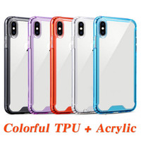 Transparent Shockproof Acrylic Hybrid Armor Bumper Colorful ...