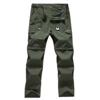Pantaloni da uomo convertibili elasticizzati ad asciugatura rapida con zip tattica leggera da esterno Pantaloni pantaloncini inferiori per l'escursionismo Campeggio 8802