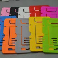 Portátil de plástico dobrável Credit Card Mobile Cell Phone Tablet 1000pcs Stand Holder