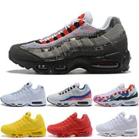 95 Mens Womens Running Shoes Classic Black Red White Yellow ...