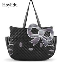 Wholesale hello kitty totes online - 2019 Fashion Cute Hello Kitty PU Women  Leather Handbags Female 2ba20752628a4