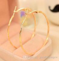Серьги-кольца Красиво посеребренные или позолоченные серьги-кольца из нержавеющей стали для жен баскетбола Ювелирные изделия Большие золотые серьги-кольца