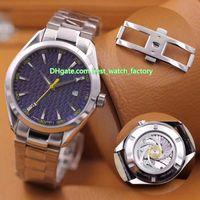 9 Стиль Топсаллинг Высочайшее качество 41.5 мм Aqua Terra 150 231.10.42.21.06.001 Asia Cal.8507 Движение механические автоматические мужские часы часов