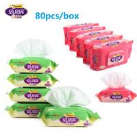 80 листов Детские ребенок Wet Tissue Box Портативные салфетки Box Пластиковых Детские Butt Wipe хранение ткань Дело держатель