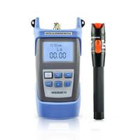 FTTH 도구 광섬유 전력 측정기 핸드 헬드 LED 섬유 옵티컬 케이블 테스터 -70dBM ~ + 10dBM SC / FC 커넥터 백라이트가있는 광학 도구