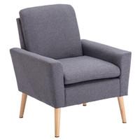 Sedia moderna del tessuto del tessuto dell accento di progettazione Singolo divano comodo sedia imbottita del braccio della camera da letto della camera da letto della camera da letto degli Stati Uniti