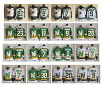 Vintage Minnesota North Stars Jersey 9 Mike Modano 20 Dino Ciccarelli 7 Neal Broten 22 Brett Hull 30 Jon Casey Hull Parise Dallas Hockey