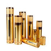 30 мл 50 мл топ блестящее золото серебро пустой вакуумный насос путешествия бутылки безвоздушный макияж уход за кожей контейнеры упаковка 40 шт.