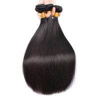 8A Brésiliens Raides Cheveux Vierges 4 Bundles Non Transformés Brésiliens Raides Cheveux Raides Bundles Pas Cher Extensio de Cheveux Humains