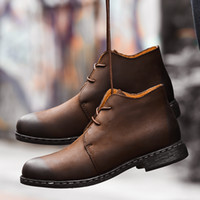 Top Quality Mens Ankle Boots Black Brown Single Lining Genui...