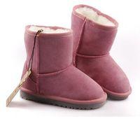Marke Kinder Schuhe Mädchen Stiefel Knöchel Kinder Kinder Plüsch Warme Schuh