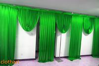 6 m styliste mariage large de festons conçoit toile de fond Parti draperie célébration Contexte performance scénique mur satin Drapé 67 DRAPS