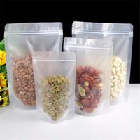 Superfície fosco Limpar partido plástico sacos de embalagem Stand Up Pouch Doy embalar Resealable Armazenamento de Alimentos Packaging Matte