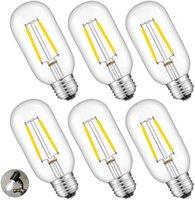 2W LED Трубчатые лампы 4000K Дневной свет белого свечения, 25W Эквивалент 250LM E26 Base, античная Edison T45 Tube Clear Glass Диммируемый Люстра пото