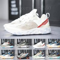 nike Epic React Element 87 UNDERCOVER x Upcoming Air Reagir Elemento 87 cartões Branco Sneakers Marca Homens Mulheres instrutor Homens Mulheres Running Shoes Zapatos HJ954
