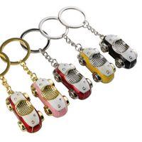 Araba Anahtarlık 3D Model Anahtarlıklar Anahtarlıklar Kadın Erkek Kızlar Için Moda Metal Charm Kolye Çinko Alaşım Anahtar Yüzük Çanta Takı Hediyeler