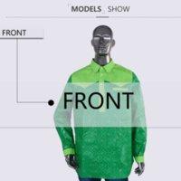 남성용 드레스 셔츠 클리어런스 세일 L 사이즈 남성 아프리카 셔츠 Bazin Riche 인쇄 블레이저 긴 소매 의류 Wyn328-XH