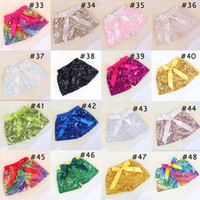 60 ColorsSummer bébé Filles Paillettes Shorts Enfants Glitter Pantalons Shorts Pantalons Bling danse Boutique Party Bow Princesse Fashion Knot Shorts AA1917