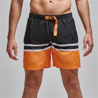Shorts Casual Colorful Male Trousers Patchwork Color Mens Shorts Summer Cargo Sports Beach Mens