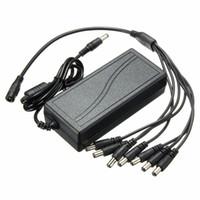4A5A6A adaptateur d'alimentation DVR CCTV caméra de sécurité + 8 Split Câble d'alimentation - 6A