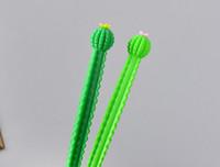 Meilleure vente stylos gel Nouvel étudiant Papeterie Creative frais 0.5mm stylo à encre noire étudiant carbone signature stylo cactus neutre pen413
