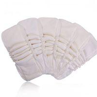 Водонепроницаемый органический хлопок бамбука Wrap Вставка 5 слоев Многоразовый моющийся Вставки Бустеры вкладыши для младенца Пеленки Обложка