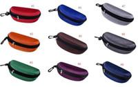 Óculos de sol caixa óculos óculos saco bolsa óculos carregam caixa óculos de sol portátil gancho portátil hard tither óculos de sol 24 cores