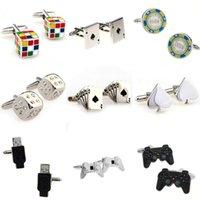 Cartes Magic Cube Jeu de dés Poignée USB Bouton de manchette Manchette 1 paire Big Promotion