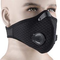 Anti-Staub-Lauf Maske Outdoor Radsport Gesichtsmasken Carbon-Atemventil Maske mit PM2.5 Filter Anti-Pollution Schutzgesicht Tactical Mask
