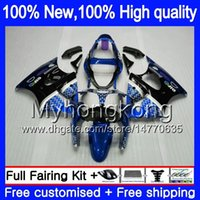 Corpo per Kawasaki ZX600 600cc ZZR600 2005 2006 2007 2008 carrozzeria Nero Blu 219MY.137 ZX600CC ZZR600 ZZR 600 05 06 07 08 carenatura integrale