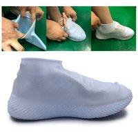미끄럼 방지 신발 커버 실리콘 방수 레인 슈즈 부츠 S / M / L 재활용 Overshoes가 신발 커버를 들어 비치 비가 사용하여 새로운