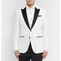 Smoking dogana effettuata White Men Suits Beach Wedding smoking dello sposo 2 Pezzi sposo di usura Best Man promenade (Jacket + Pants + papillon)