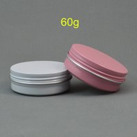 50pcs Aluminum Jars 60ml white pink Tin 60g Cosmetic Contain...