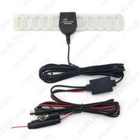 LEEWA Auto 2IN1 FM IEC Connecto TV-Antenne Radio-Antenne mit Verstärker Booster # 1728
