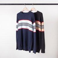 Luxus-Männer und die Frauen Striped Pullover Mode-Abdeckung Qualitäts-Baumwolle Schrank, Herbst und Winter freies Verschiffen