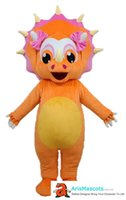 Funny Orange Girl Dinosaur Mascot Costume for Adult to Wear ...