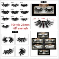 10 Styles 6D Mink Eyelashes 25mm Premium Soft Natural Thick ...